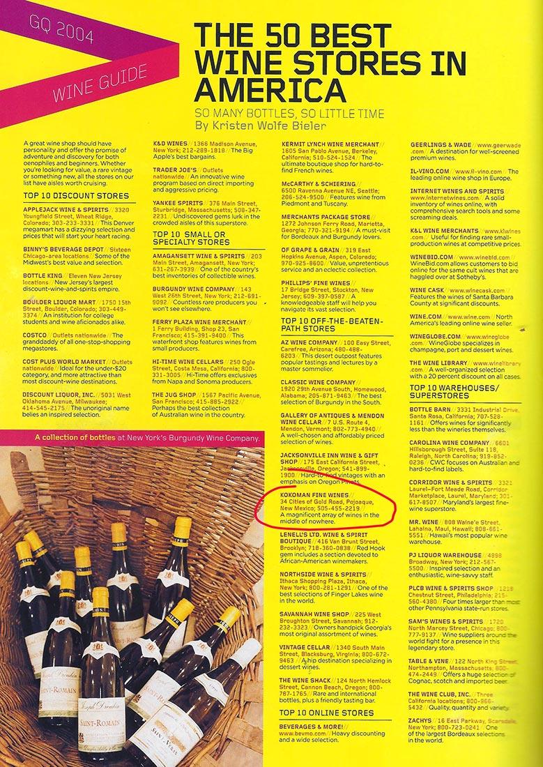 Press | Kokoman Fine Wines